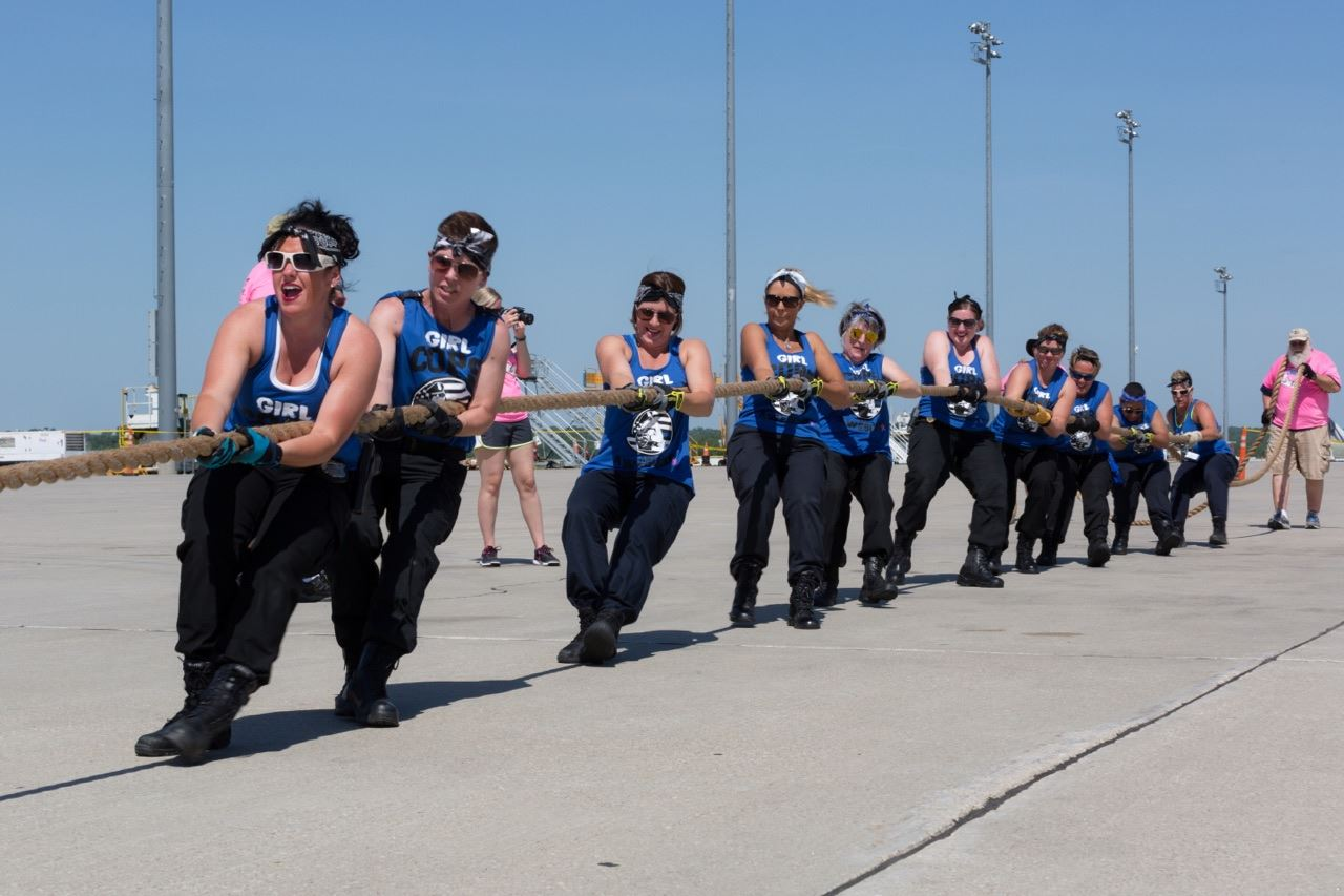 Girl Cops are Awesome Plane Pull