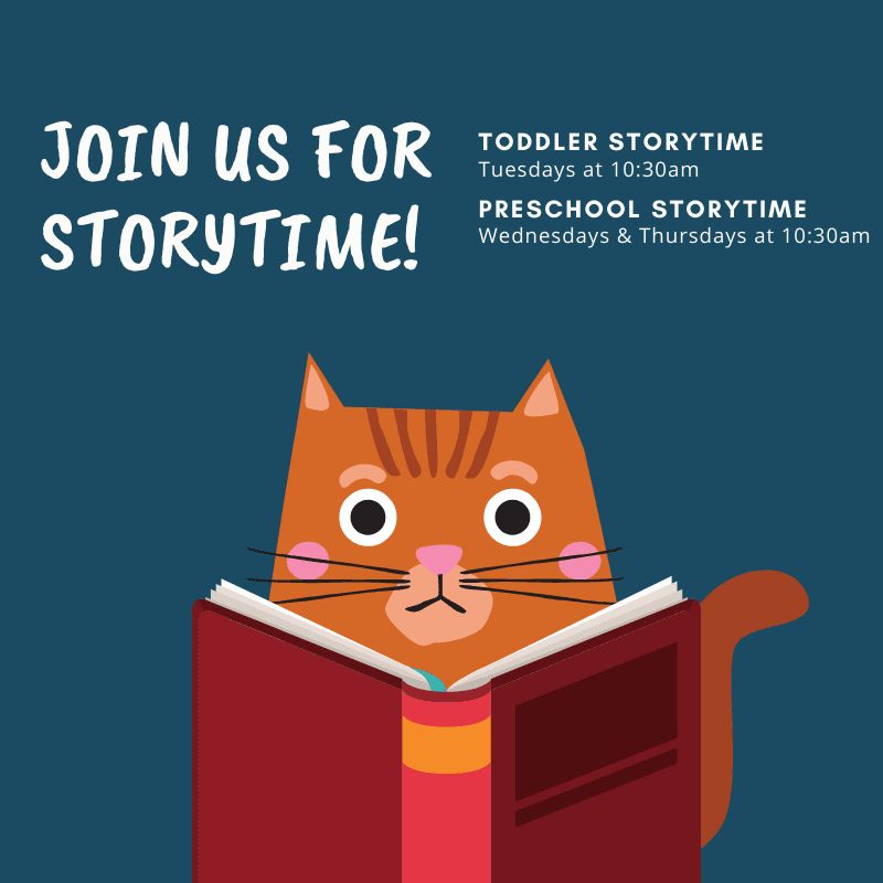Join us weekly for storytime!