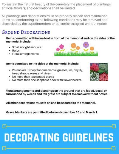 Gravesite Decorating Guidelines