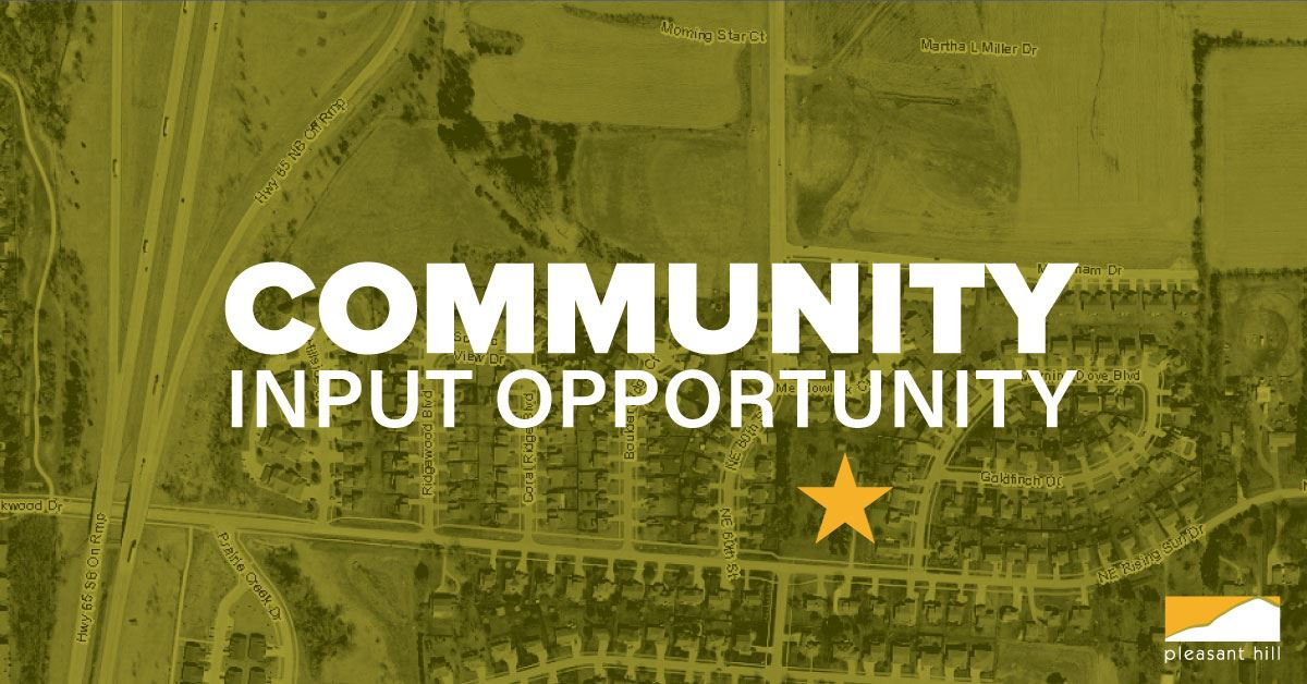 Community Input Opportunity