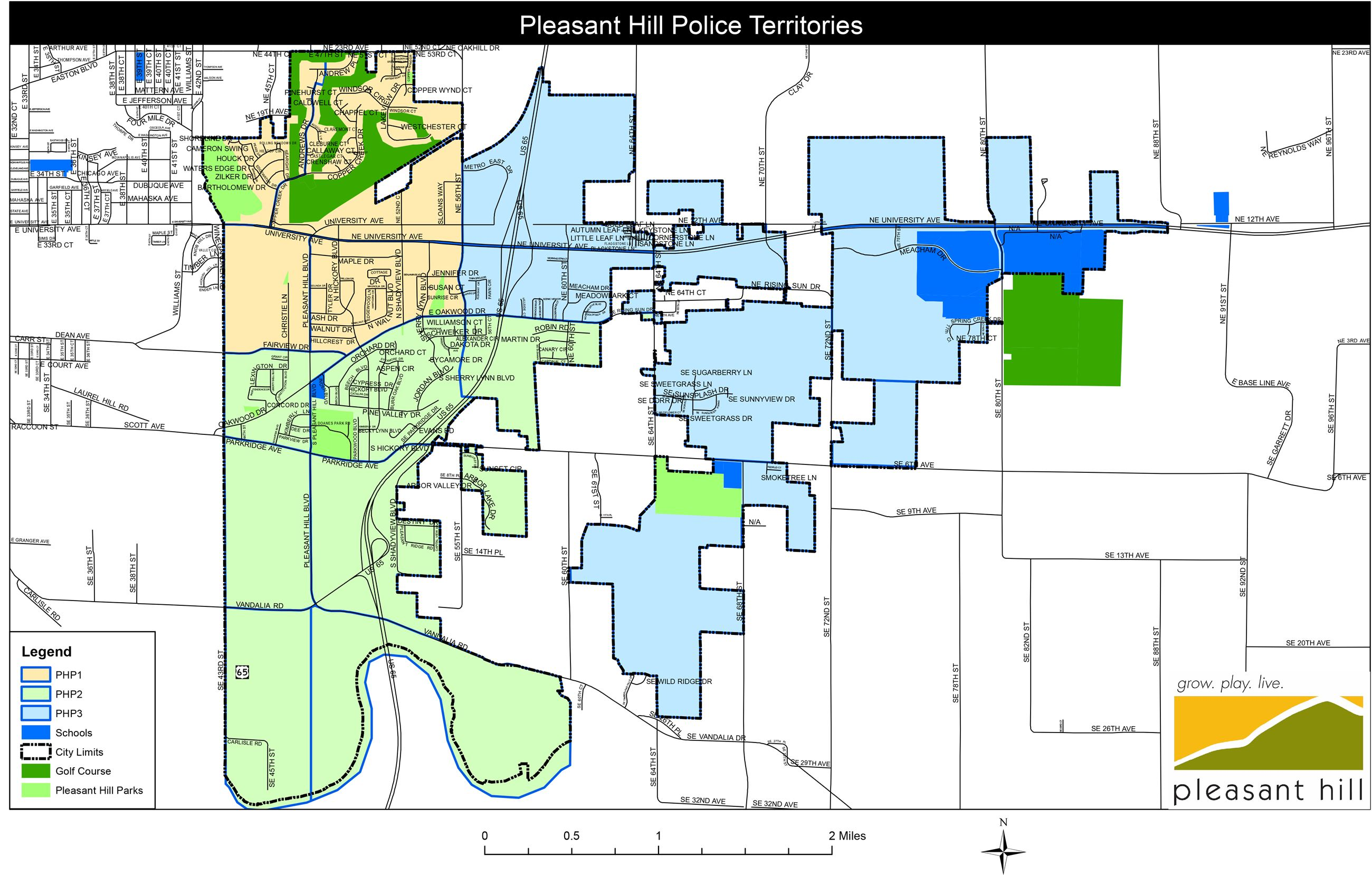 Community Policing Territories for the City of Pleasant Hill